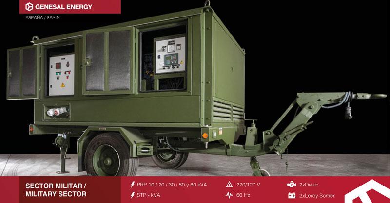 Grupo electrógeno para el sector militar y telecomunicaciones