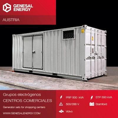 Grupo electrógeno para una de las empresas líderes a nivel mundial en soluciones de papel y embalaje en Austria