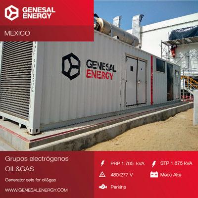 Energía de emergencia para una plataforma offshore en México