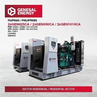 Genesal Energy garantiza el suministro a cientos de hogares de tres urbanizaciones de lujo en Filipinas