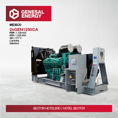 Energía de emergencia para garantizar el suministro eléctrico en un complejo hotelero en México