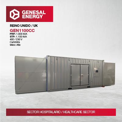Garantizamos energía de emergencia a uno de los principales hospitales del Reino Unido